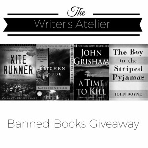 Banned Books 2015 Giveaway Square B&W