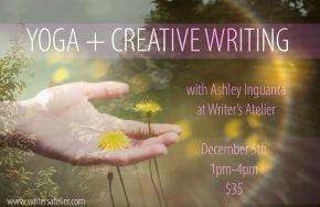Yoga + Creative Writing with AshleyInguanta