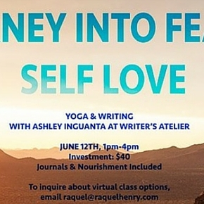 A Journey into Fearless Self Love: Yoga + Writing with Ashley Inguanta