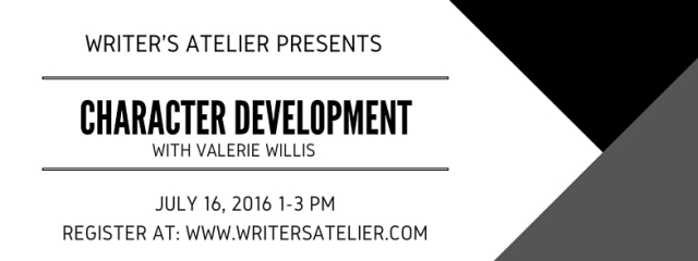 Character Development with Valerie Willis FB Event Header