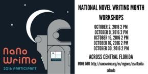 October Workshops: Get Ready for National Novel WritingMonth!